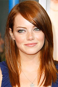 Emma Stone, a natural blonde, looks just as fabulous if not more so as a stunning redhead. (image credit: Google Images)
